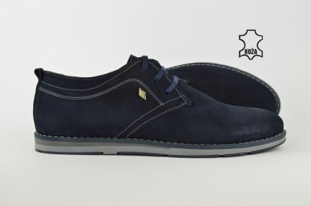 Kožne muške cipele 464P teget