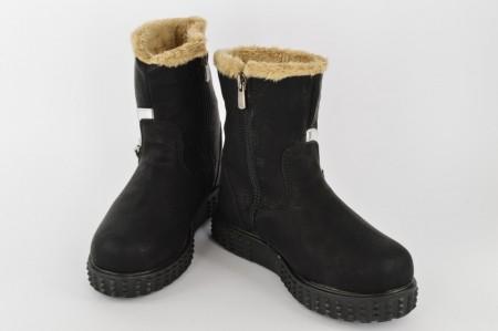Postavljene dečije čizme 04-C crne