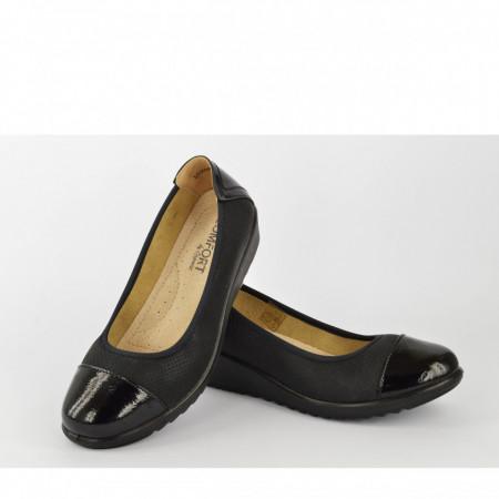 Ženske cipele na platformu L020803CR crne