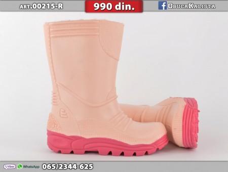 Gumene dečije čizme 00215-R roze