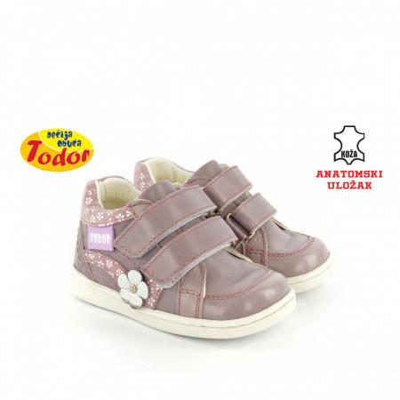 Kožne dečije cipele 474-L sa anatomskim uloškom ljubičaste