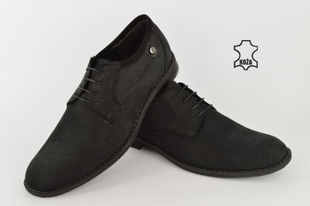 Kožne muške cipele 655 crne