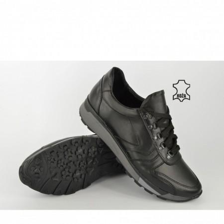 Kožne muške cipele 705 crne