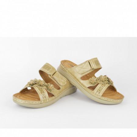 Ženske papuče LP020339ZT zlatne
