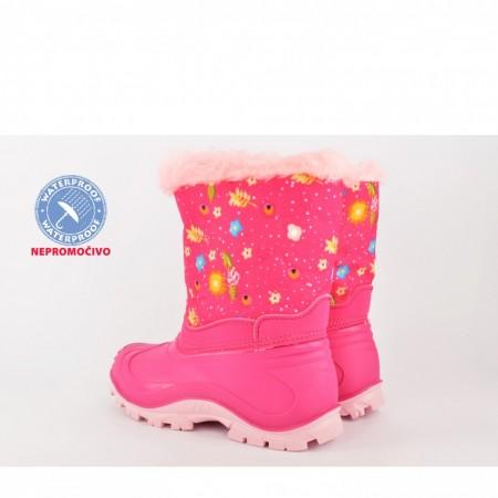 NEPROMOČIVE gumene dečije čizme 00519-R roze