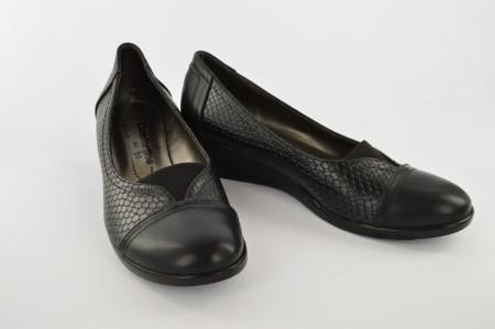 Ženske cipele na platformu A50-138 crne