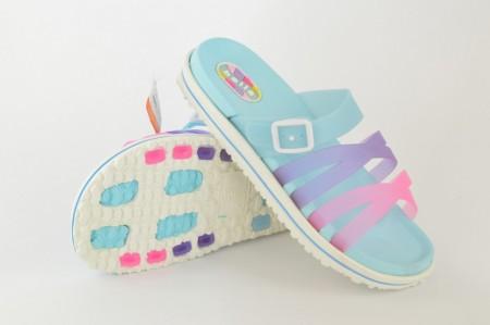 Gumene ženske papuče E210-P plave