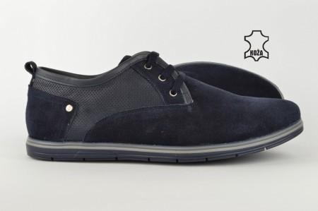 Kožne muške cipele 607-P teget