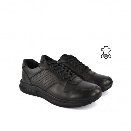 Kožne muške cipele 634020CR crne