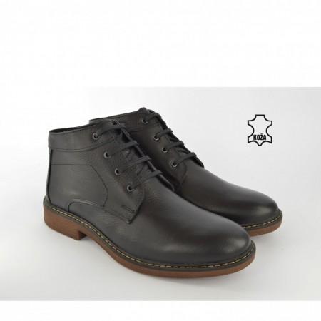Kožne muške duboke cipele 486CR crne