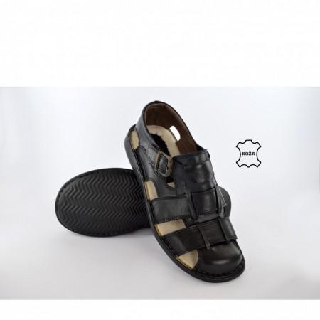 Kožne muške sandale 3-1 crne