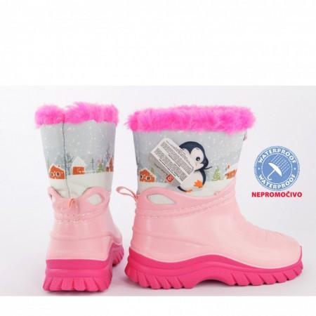 NEPROMOČIVE zimske dečije čizme 00455-R roze