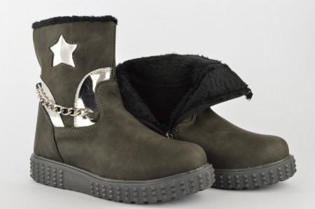 Postavljene dečije duboke cipele 04-S sive