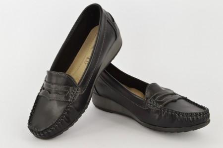 Ženske cipele na platformu L15458 crne