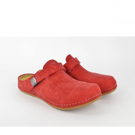 Ženske papuče - Klompe 154063CV crvene