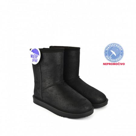 NEPROMOČIVE ženske duboke čizme LH086655CR crne