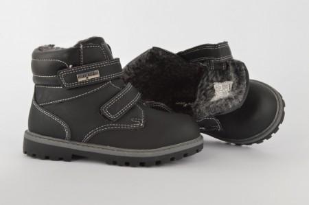 Postavljene dečije duboke cipele 026309 crne