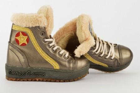 Postavljene dečije duboke cipele 850 sive
