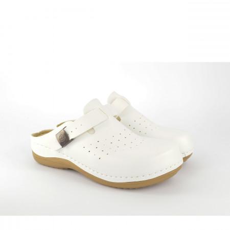 Ženske papuče - Klompe 154149BL bele