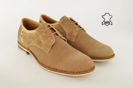 Kožne muške cipele 655-2 bež