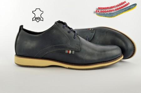 Kožne muške cipele C31-7399 plave