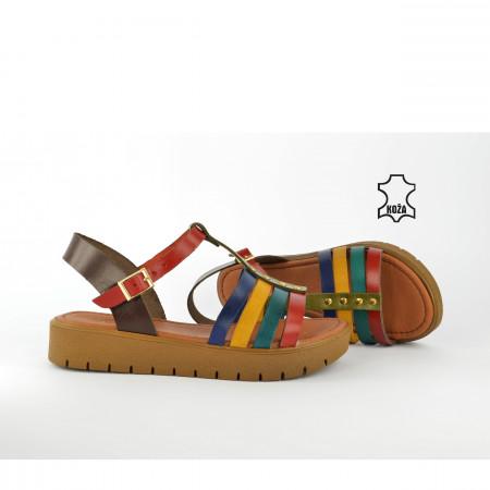 Kožne ženske sandale AS307SH šarene