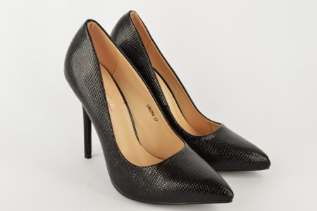 Ženske cipele na štiklu L86264 crne