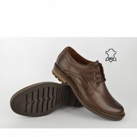Kožne muške cipele 657 braon