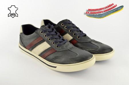Kožne muške cipele C14-5596 plave