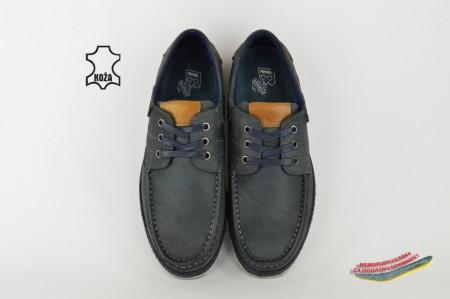 Kožne muške cipele S052017-4 plave
