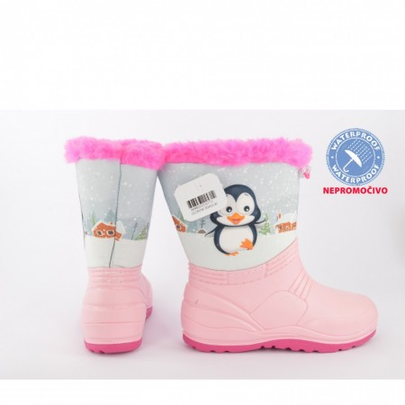 NEPROMOČIVE zimske dečije čizme 00453-R roze