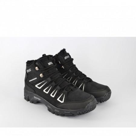 Postavljene ženske duboke cipele D051CR crne
