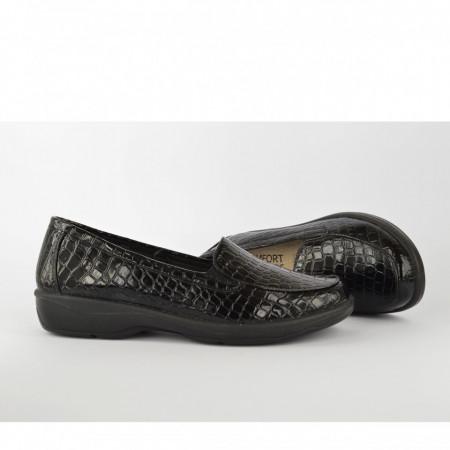 Ženske cipele na platformu L020620CR crne