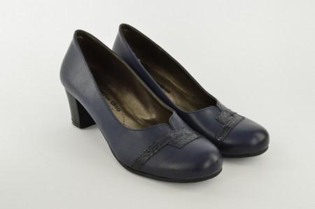 Ženske cipele na štiklu 483-T teget