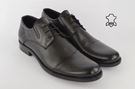Kožne elegantne muške cipele 307 crne