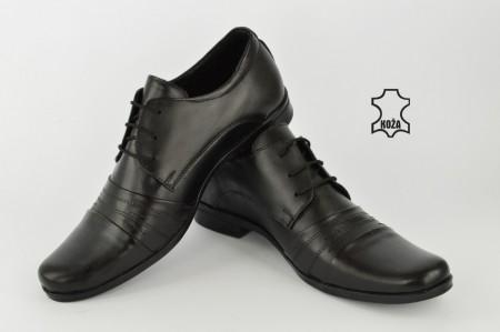 Kožne elegantne muške cipele 450-C crne