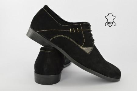 Kožne muške cipele 010-C crne