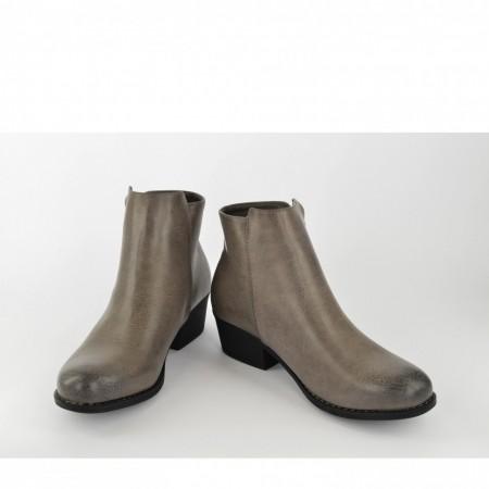 Ženske čizme na štiklu LH75010-S sive