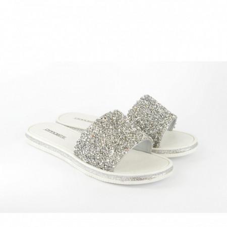 Ženske papuče LP020952SB srebrne