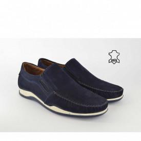 Kožne muške cipele - Mokasine 7023TT teget