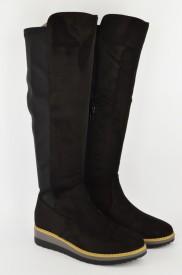 Ženske duboke čizme WB03019-C crne