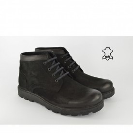 Kožne muške duboke cipele 1352CR crne