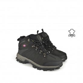 Kožne muške duboke cipele 35428DCR crne