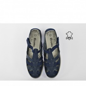 Kožne ženske cipele na platformu SD811W teget