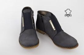 Kožne ženske duboke cipele 557 plave