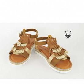 Kožne ženske sandale D-2128BR braon