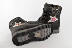 Postavljene dečije duboke cipele CH34221-C crne