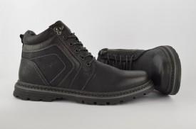 Postavljene muške duboke cipele 061181 crne
