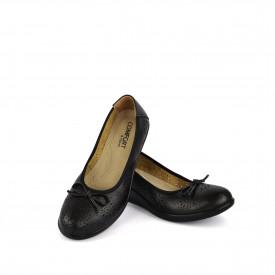 Ženske cipele na platformu L055500CR crne
