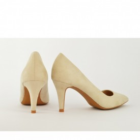 Ženske cipele na štiklu - Salonke L55046 bež